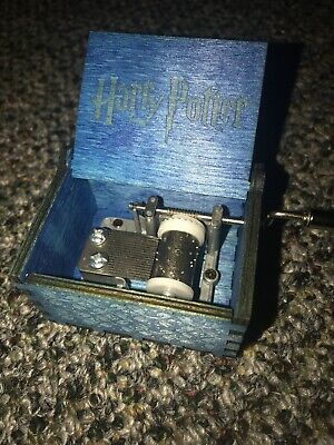 Harry Potter Music Box Engraved Wooden Hand Crank Interesting Toy Christmas Gift