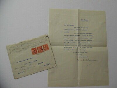 1936 Robert W Service Yukon Poet Typed Letter Signed To Native American Indian