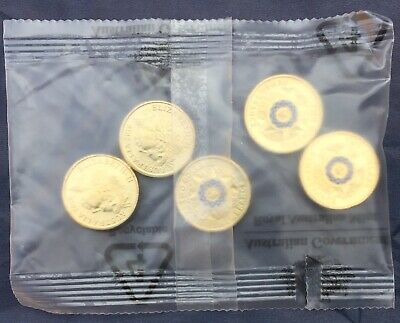 Australia 2019 $2 Police Remembrance RAM sachet bag of 5 UNC Coin Sealed