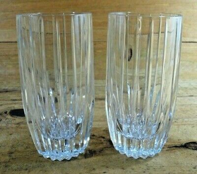 Mikasa Crystal Park Lane Set of 2 Highball Glasses 5 5/8""