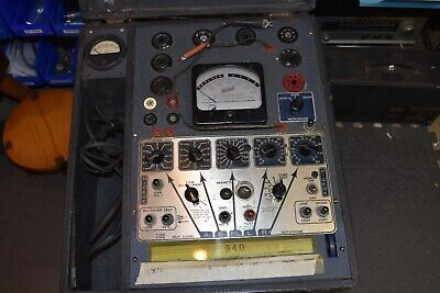 Hickok Mutual Conductance Vacuum Tube Tester Model 540 Working