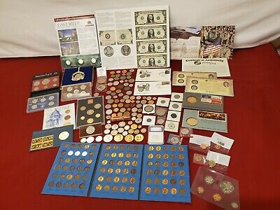 COIN U.S. & FOREIGN LOT,collection PROOF SETS, SILVER STATE QUARTER PF70, IRAQI
