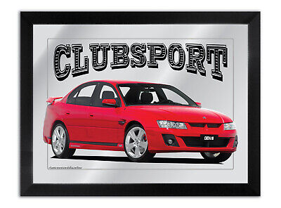 Bar Mirror Suit Holden Clubsport Commodore Fan Large A3 Size