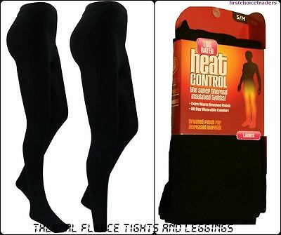 THERMAL LADIES WOMEN GIRLS SOFT FLEECE LINED THICK WARM WINTER TIGHTS Pack of 3