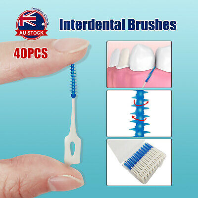 40pcs Interdental Brushes Straight Clean Toothbrush Hygiene Dental Toothpick A