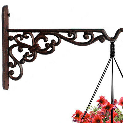 Cast Iron Plant Hanger Hook Bracket Flower Pot Basket Bird Feeder Lantern Hanger