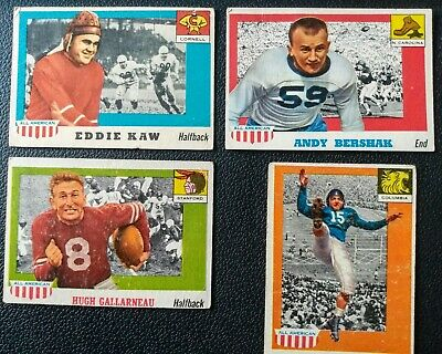 4 x Topps 1955 All American cards