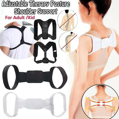Unisex Posture Corrector Adjustable Back Shoulder Belt Support Body Brace Back
