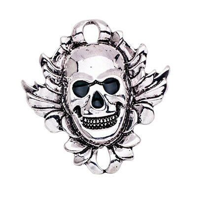 Death Badge Set Ghost Skeleton Skull Brooch Lapel Pins Tibet Silver Jewelry