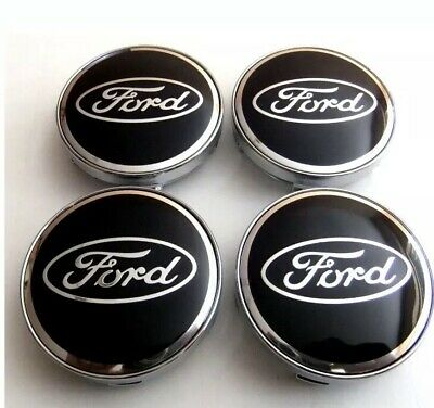 4x FORD 60MM ALLOY WHEELS CENTRE CAP FOCUS FIESTA MONDEO IN SILVER