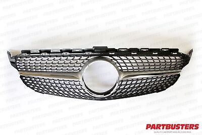 Diamond Style Front Grille For Mercedes C Class W205 2014-2018 New High Quality