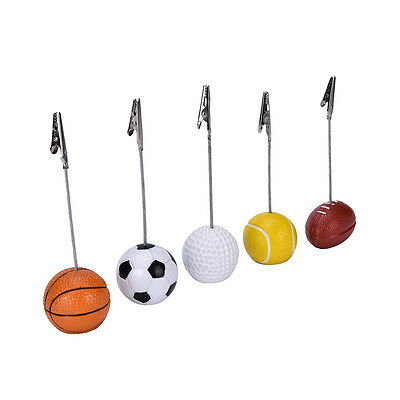 Funny Sport ball alligator wire card memo photo clip holder,party table placeSC