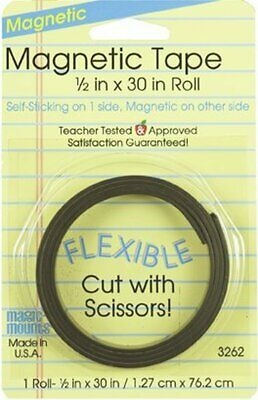 """Self Adhesive Magnetic Tape Strips 1/2"""" Flexible Sticky Craft Magnet Strip NEW"""