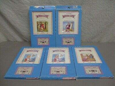 5 1986 Worlds Of Wonder Talking Mother Goose Books & Tapes In Original Box Littl