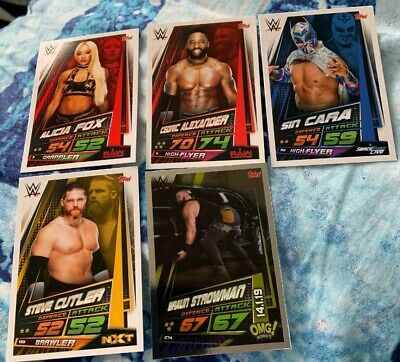 Topps WWE Slam Attax Universe Collectors Cards X5