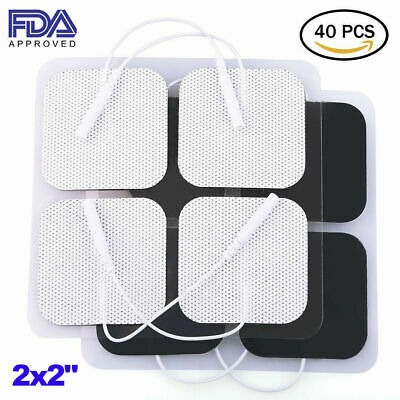 40 Tens Electrode Pads EMS Replacement Unit 7000 3000 2x2 Muscle Stimulator BULK