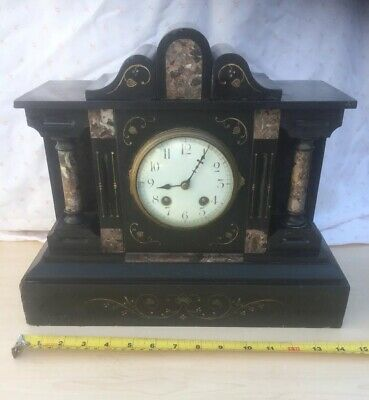 antique marble clock. Made in France. Decorative. Heavy
