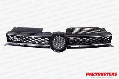 Vw Golf Mk6 2009 - 2013 Gtd Look Front Grille With Chrome Trim New High Quality