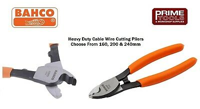 Bahco Heavy Duty Cable Wire Cutter/Cutting Stripping Pliers 160, 200 or 240mm