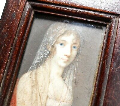 Beautiful Antique Georgian Or Victorian Miniature Painting