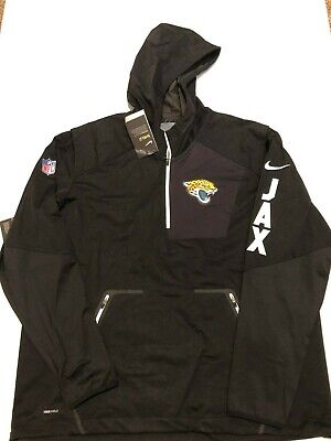 reputable site d8449 bbf03 NIKE NFL JAGUARS Shield Alpha Fly Rush Pullover Jacket Hoodie Black Men 3XL  NWT