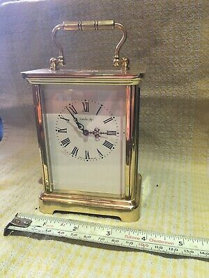 Brass Cased Jonelle French Carriage Clock For Restoration 7 Jewell's Untested