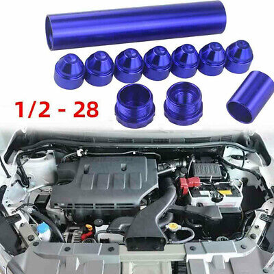 1/2-28 5/8 -24 Fuel Trap Solvent Filter For Napa 4003 WIX 2400 6061-T6 Car PVV