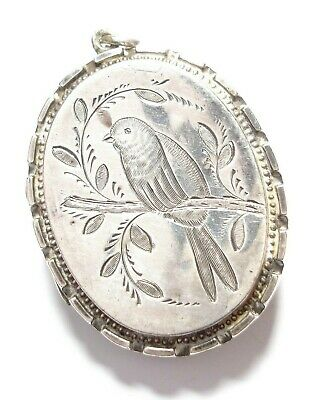 Beautiful Antique Victorian Silver Aesthetic Movement Locket