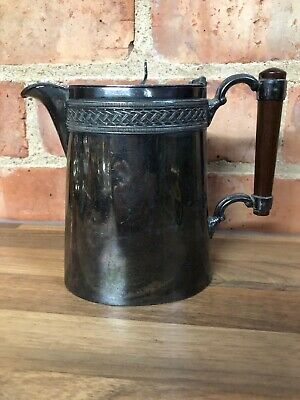 """Lovely Vintage English Silver Plated Art Deco Small Coffee Pot Hallmarked 6"""""""