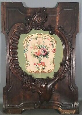 19thC Antique FRENCH VICTORIAN Carved ACANTHUS Wood ARCHITECTUAL SALVAGE PANEL