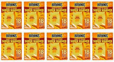 10 Packs Of Hothands Body And Hand Super Warmer Up To 18 Hours Of Heat New