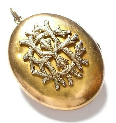 Beautiful Antique Victorian Silver Gilt Locket Af