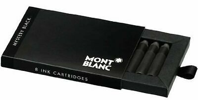 Montblanc Mystery Black  (8) Fountain Pen Ink Cartridges #105191~ NIB ~Sealed