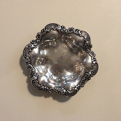 Antique Vintage Gorham Sterling Silver  Art Nouveau Dish Or Bon Bon Bowl