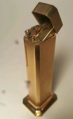 Dunhill Tallboy table lighter  gold plated in working order