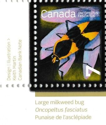 Canada 2408 Beneficial Insects Large Milkweed Bug 7c corner single LL MNH 2010