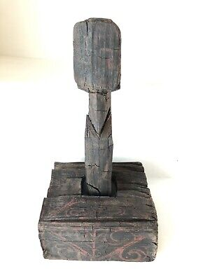 Chinese ancient Han Dynasty Warring States Lacquer Wooden Tomb Guardian curio