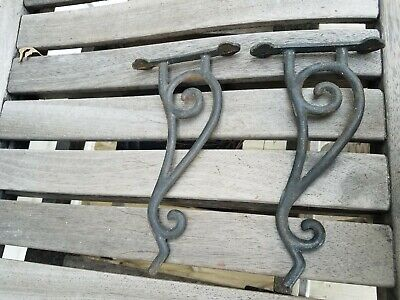 Vintage Cast Iron Plant Hanger Hook Marked Taiwan Early Old Antique Spiral