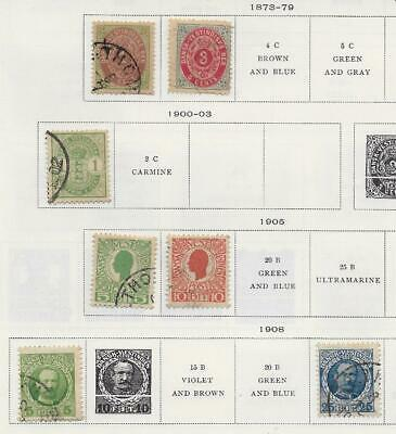 7 Danish West Indies Stamps from Quality Old Album 1873-1908