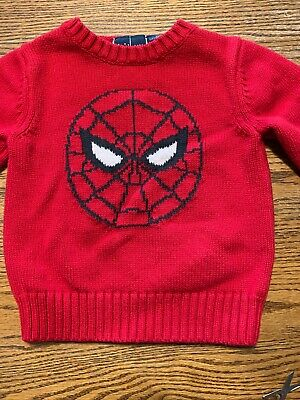 Baby Gap, Junk Food Toddler Boys Size 2T Spider-Man Sweater