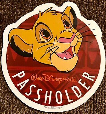 Disney World Animal Kingdom 2019 Annual Passholder Simba The Lion King Magnet