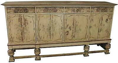 Sideboard French Country Farmhouse Antique 1900 Oak Wood