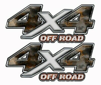 4X4 OFF ROAD DECALTruck Bed STICKER Blue Graphics 13 inches wide   Mk503OR4