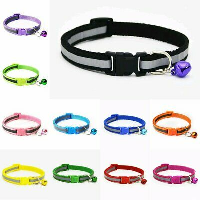 Reflective Dog Cat Kitten Collar Adjustable Harness with Bell Pet Puppy