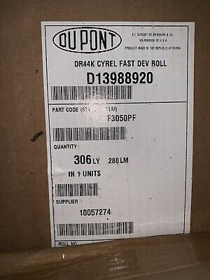DUPONT CYREL FAST DEVELOPING ROLL 44INCHES WHITE Going Cheap!!