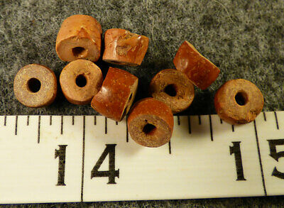 (10) Original Pipestone Sioux Indian Trade Beads Medium Size 150+ Years Old