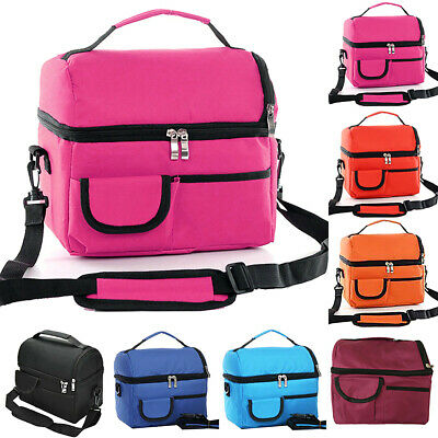 Insulated Lunch Bag For Women Men Kids Thermos Cooler Adults Tote Food LunchB Bi