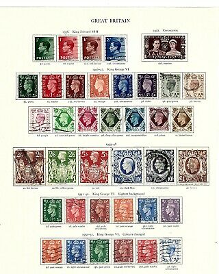 1936-51(A259)  George V1 Complete Run Comms And Definitives Good To Fine Used