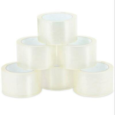 """18 ROLL CLEAR CARTON SEALING PACKING SHIPPING TAPE 2 MIL 2"""" 55 Yard 165' FT"""