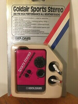 Vintage Goldair Sports AM FM Radio - New in Box (Old Stock) - Never Used - Retro